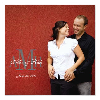 Avant élégant d'invitations de mariage de photo de carton d'invitation  13,33 cm