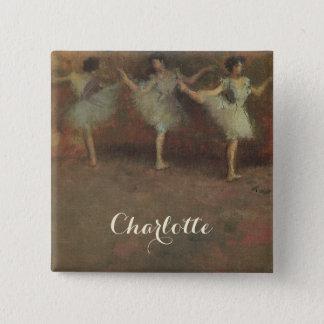 Avant le ballet par Edgar Degas, beaux-arts Badge Carré 5 Cm