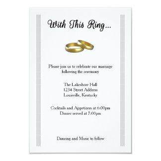 Avec cet anneau… - Invitation de réception