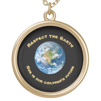 Avenir de respect de collier de la terre de
