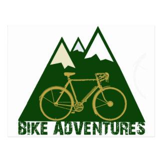 aventure de recyclage - vélos carte postale
