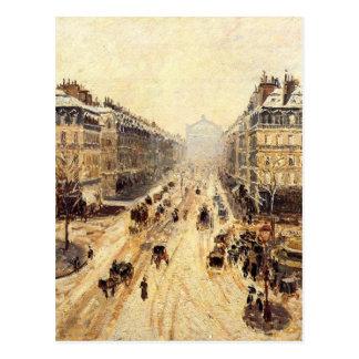Avenue de l'Opera - effet de neige par Camille Carte Postale