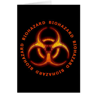 Avertissement de zombi de Biohazard Carte De Vœux