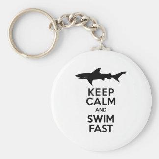 Avertissement drôle de requin - gardez le calme et porte-clés