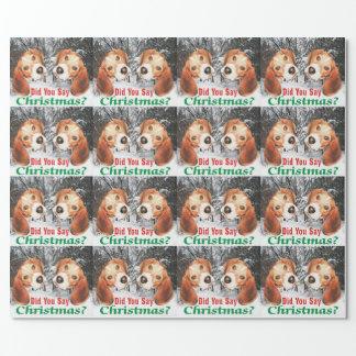 Avez-vous dit Noël ? Papier d'emballage de beagle Papier Cadeau