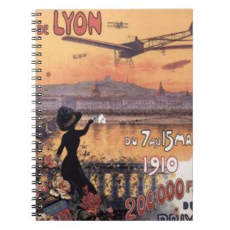 Aviation française vintage carnets à spirale