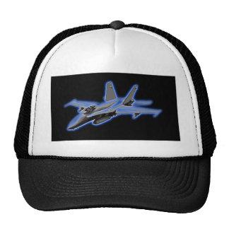 Avion de chasse de bleu du frelon F/A-18 Casquettes