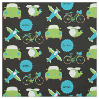 Avions, vélos, et tissu de bleu d'automobiles