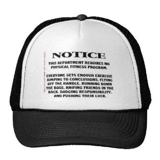 Avis ! casquettes de camionneur