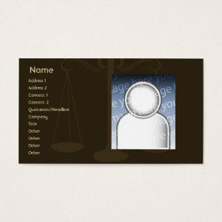 Avocat - affaires cartes de visite