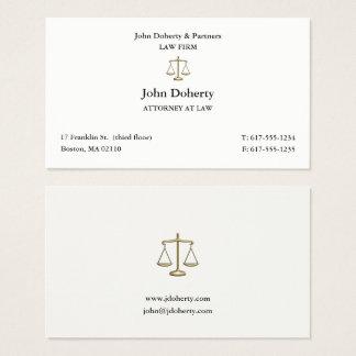 Avocat chic de l'avocat   cartes de visite