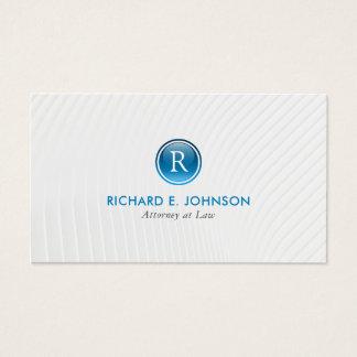 Avocat créatif du meilleur monogramme élégant cartes de visite