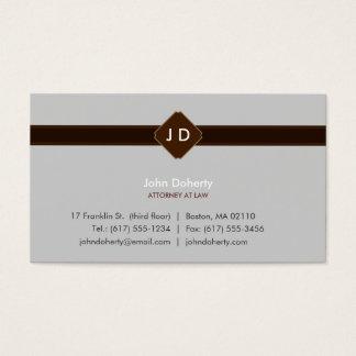 Avocat de monogramme - carte de visite