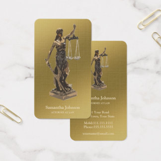 Avocat de Themis | d'or Cartes De Visite