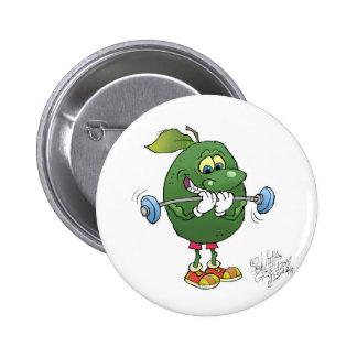 Avocat d'haltérophilie, sur l'insigne badge rond 5 cm