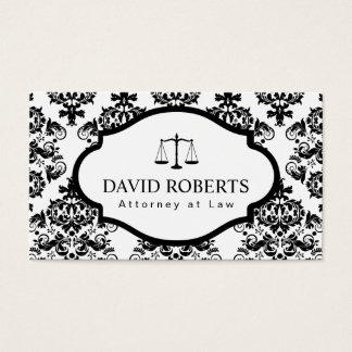 Avocat élégant de damassé classique d'avocat cartes de visite