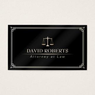 Avocat encadré par classique d'avocat cartes de visite