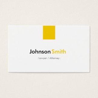 Avocat/mandataire - jaune ambre simple cartes de visite