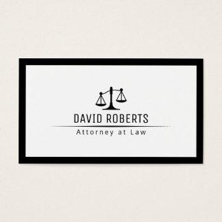 Avocat simple de frontière d'avocat cartes de visite