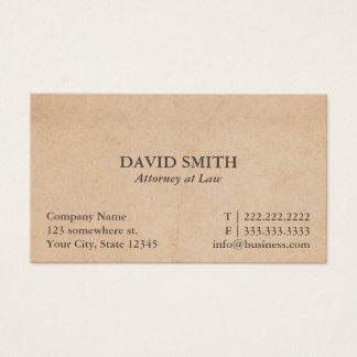 Avocat vintage d'avocat cartes de visite
