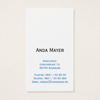 Avocate Visitenkarten Cartes De Visite