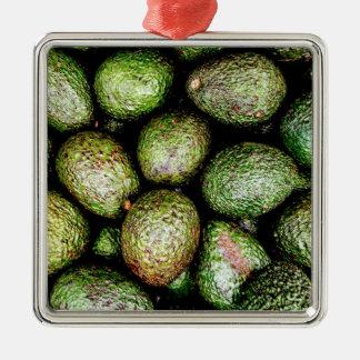 Avocats Ornement Carré Argenté