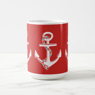 Away_Rope_Red_Aqua de l'ancre--Blanc-Multi-Styles Mug