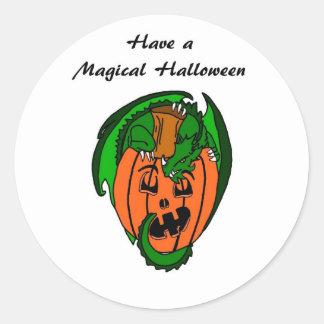 Ayez un autocollant magique de dragon de Halloween