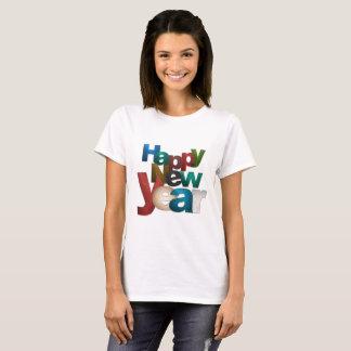 Ayez un T-shirt de femmes de bonne année