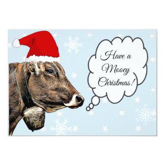 Ayez une carte de Noël drôle de vache à Noël de