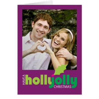 Ayez une carte de voeux gaie de photo de Noël de
