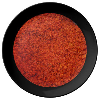 Azafran - panier de safran du marché assiette en porcelaine