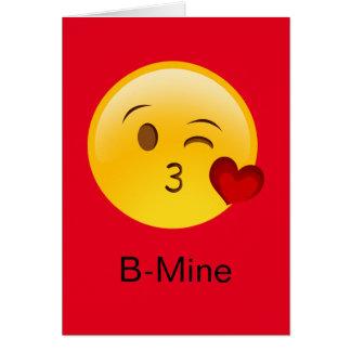 B-Mine Emoji carte du Saint-Valentin