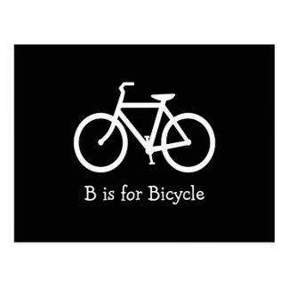 B noir et blanc est pour la bicyclette carte postale