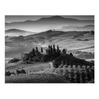 B&W Toscane Carte Postale