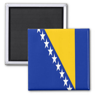 BA - Bosnie-Herzégovine - drapeau Magnet Carré