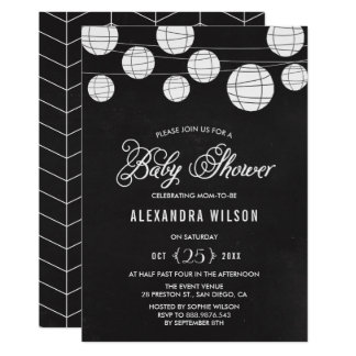 Baby shower accrochant de lanternes de tableau carton d'invitation  12,7 cm x 17,78 cm