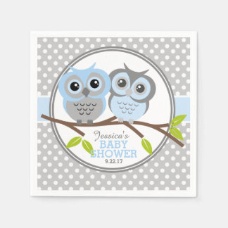 Baby shower adorable de hiboux serviette jetable