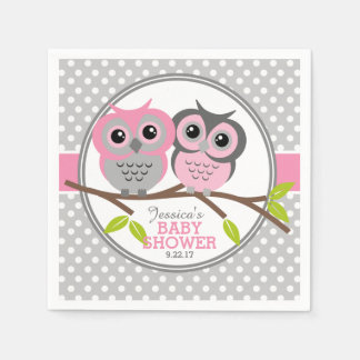 Baby shower adorable de hiboux serviettes en papier