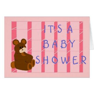 Baby shower carte