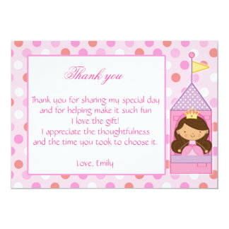 Baby shower d'anniversaire de fille de princesse carton d'invitation  12,7 cm x 17,78 cm