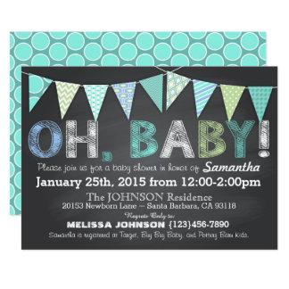 Baby shower de garçon de bannière d'étamine de carton d'invitation  12,7 cm x 17,78 cm