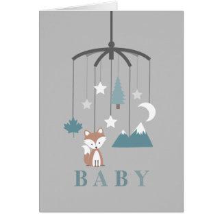 Baby shower moderne mobile de garçon de Fox Carte