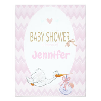 Baby Shower Pink Pastel Invitation