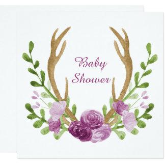 Baby shower van de Bloemen van Boho van de Kaart
