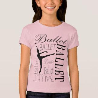 Babydoll T - arabesque de filles de ballet T-shirt