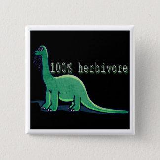 Badge Carré 5 Cm 100% dinosaures herbivores