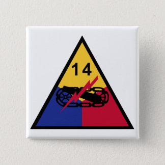 Badge Carré 5 Cm 14ème Division blindée