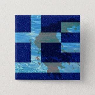 Badge Carré 5 Cm 2 po. Bouton carré/drapeau grec