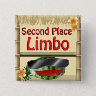 Badge Carré 5 Cm 2ème bouton de vide d'endroit de partie de hutte